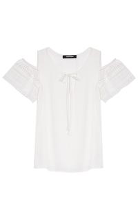 белая блузка с открытыми плечами La Reine Blanche