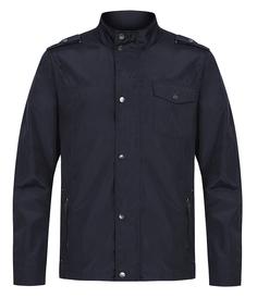 Легкая темно-синяя ветровка с воротником-стойкой Urban Fashion for men