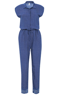 Синий комбинезон с принтом Pepe Jeans London