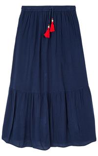 Длинная синяя юбка La Reine Blanche