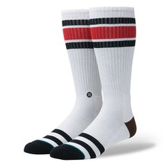 Носки высокие Stance Blue Oxnard White