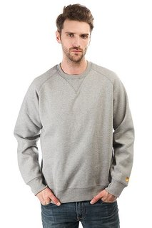 Толстовка свитшот Carhartt Chase Sweatshirt Grey Heather