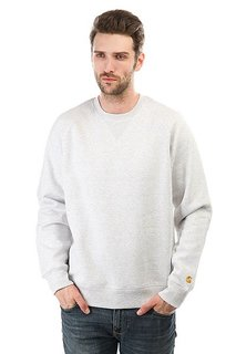 Толстовка свитшот Carhartt Chase Sweatshirt Ash Heather/Gold