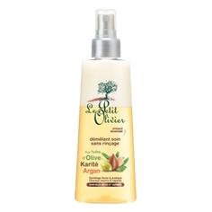 LE PETIT OLIVIER Спрей для облегчения расчесывания для сухих/ломких волос с маслами Оливы, Арганы и Карите, без смывания 150 мл
