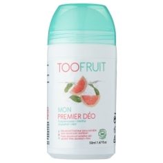 """TOOFRUIT Дезодорант роликовый детский для чувствительной кожи без спирта """"Грейпфрут-Мята"""" 50 мл"""