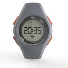 Часы Спортивные Цифровые С Таймером W200 M Swip Муж. - Серые Оранжевые Geonaute
