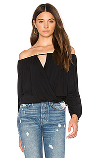 Off shoulder surplice top - krisa