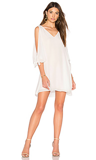 Tied cold shoulder dress - krisa