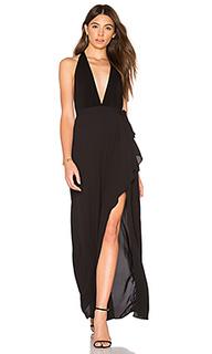Вечернее платье с глубоким v-образным вырезом - BCBGMAXAZRIA