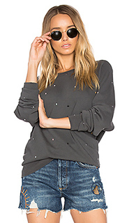 The college multi dot embroidery sweatshirt - The Great