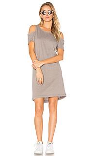 Zadeth cold shoulder tee dress - LA Made