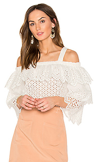 Cold shoulder top with tiered sleeves - Endless Rose