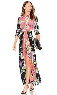 Макси платье с цветочным принтом - Diane von Furstenberg