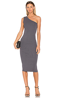 Rib one shoulder midi dress - Enza Costa