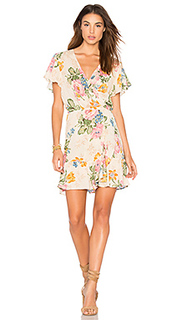 Delilah frill wrap mini dress - AUGUSTE