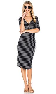 Stripe lace up dress - MONROW