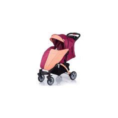 Прогулочная коляска Tetra, Baby Hit, бордовый/оранжевый