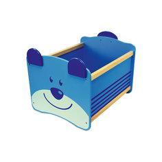 Ящик для хранения Медведь, Im Toy, синий