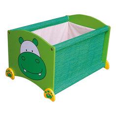 Ящик для хранения Бегемот, Im Toy, зеленый