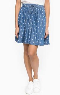 Короткая синяя юбка на резинке Hilfiger Denim