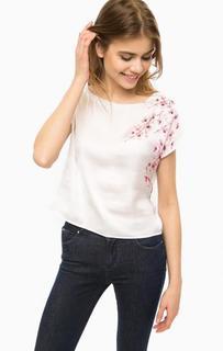 Белая футболка с цветочным принтом Gas