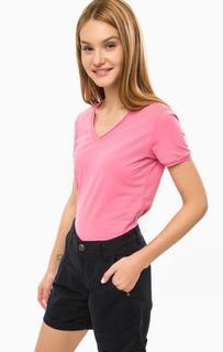 Хлопковая футболка розового цвета с короткими рукавами Luhta