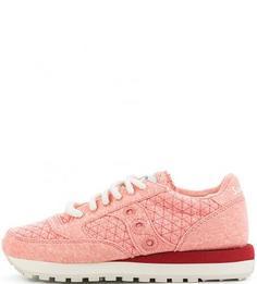 Розовые текстильные кроссовки Saucony