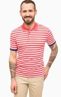 Хлопковая футболка поло в полоску Lacoste