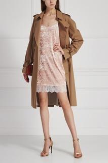 Бархатное платье T Skirt