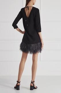 Платье со страусиными перьями T Skirt