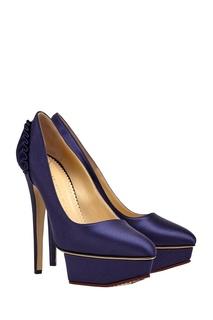 Атласные туфли Paloma Charlotte Olympia