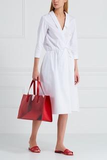 Кожаная сумка-шопер Presley Charlotte Olympia