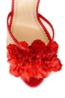 Кожаные босоножки Exotic Pomeline Charlotte Olympia