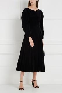 Бархатное платье с кружевом (1980-90-е) Laura Ashley Vintage