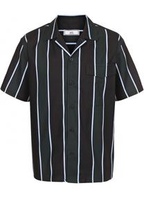 Рубашка из смеси вискозы и хлопка с короткими рукавами Ami