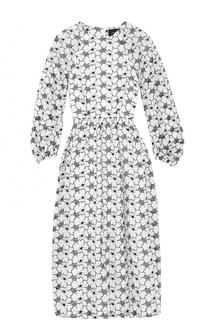 Платье с цветочной отделкой и укороченным рукавом Simone Rocha