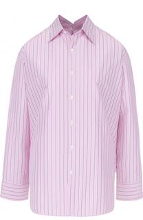 Блуза свободного кроя в полоску Balenciaga