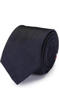 Шелковый галстук с принтом Thom Browne