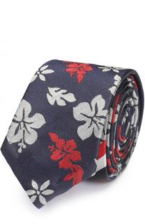 Шелковый галстук с цветочным принтом Thom Browne