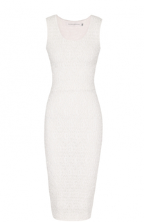 Платье-футляр с фактурной цветочной отделкой Victoria Beckham