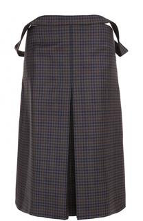 Шерстяная юбка-топ в клетку Balenciaga