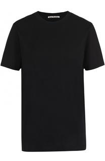Хлопковая футболка прямого кроя с круглым вырезом Acne Studios