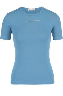 Облегающая футболка с контрастной надписью Balenciaga