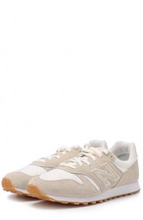Замшевые кроссовки 373 с текстильной вставкой New Balance