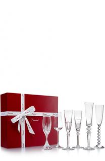 Набор из 6-ти фужеров для шампанского Bubble Box Baccarat