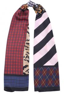 Шелковый шарф с принтом Dsquared2