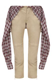Укороченные брюки-скинни с декоративной отделкой Dsquared2