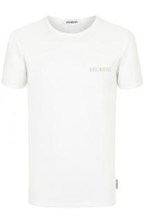 Хлопковая футболка с круглым вырезом Dirk Bikkembergs