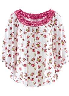 Трикотажная туника дизайна Maite Kelly (белый в цветочек) Bonprix