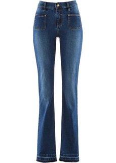 Дизайн от Maite Kelly: джинсы Bootcut с эффектом пуш-ап (синий «потертый») Bonprix